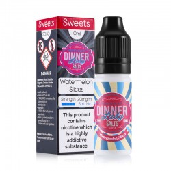 Watermelon Slices e-liquid 10ml - Dinner Lady Nic Salt