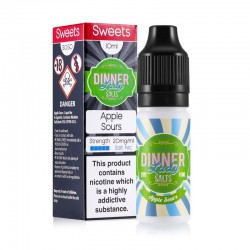 Apple Sours e-liquid 10ml - Dinner Lady Nic Salt